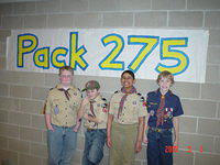 2007/03 - Pack 275 Blue and Gold @ Oakwood Church Ames, Iowa