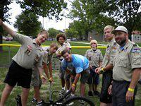 2012/08 - Fall Camporee, Biking @ Slater